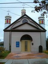 closeupfront of church